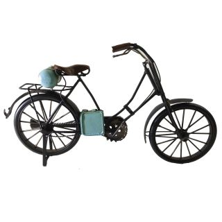 Miniatura Metal Retro Bicicleta Preta 30cm