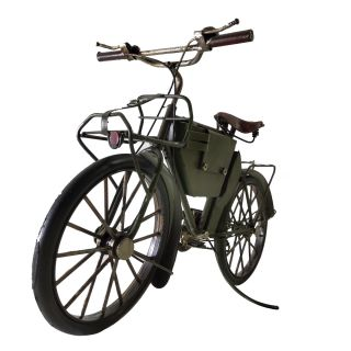Miniatura Metal Retro Bicicleta Verde 30cm