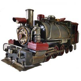 Miniatura Metal Retro Locomotiva Maria Fumaça Red & Black
