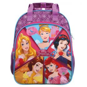 Mochila Escolar Tamanho M 5 Princesas Oficial Disney