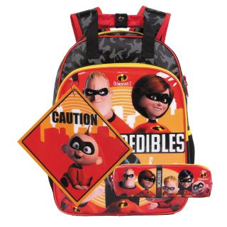 Mochila Os Incríveis 2 Oficial Team Incredibles + Estojo Disney