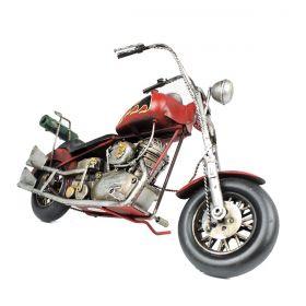Moto de metal Chopper Hydra Glide Customizada Ano 1949 Red