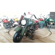 Moto Vintage decorativa de Metal Militar Red e Green 1219