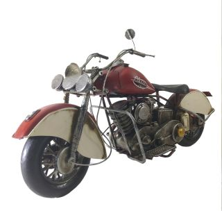 Moto Vintage decorativa de Metal Motor Cycle Red 1216