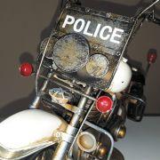 Moto Vintage decorativa de Metal Police 1219
