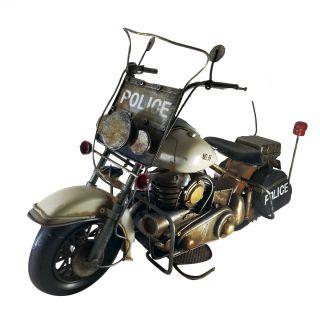 Moto Vintage decorativa de Metal Policia 1219