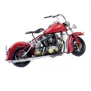 Moto Vintage decorativa de Metal Red