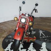 Moto Vintage decorativa de Metal Red Fire 1208