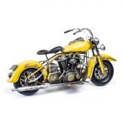 Moto Vintage decorativa de Metal Yellow