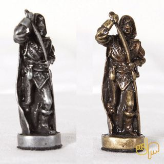 Peças de ferro para Jogo de Tabuleiro de Xadrez Tema Gregos 32 peças