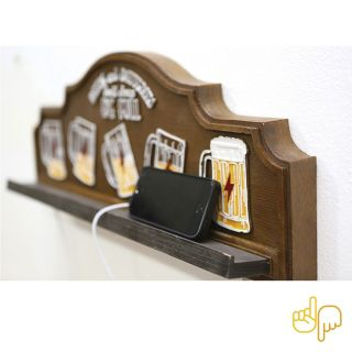 Placa Chopp Beers Carregador de Celular USB Full
