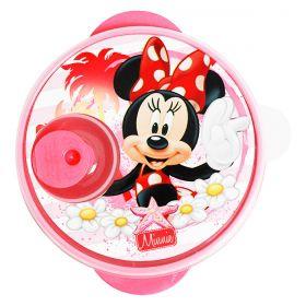 Prato c/ Divisões e Tampa p/ Micro-Ondas Disney Minnie Baby 1297
