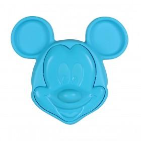 Prato Com Tampa 3D Mickey Azul BabyGo Premium