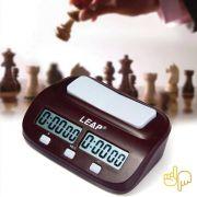 Relógio de Mesa Digital P/ Xadrez Basic Chess Timer Leap PQ9970S