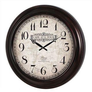 Relógio de Parede Café de La Tour Paris France 52cm