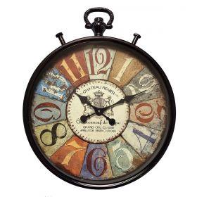 Relógio de parede Castelo Frances Château Renier 52cm