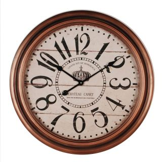 Relógio de Parede Rose Gold Chateau Canet 65cm