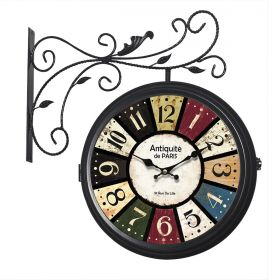Relógio de parede dupla face Antiquité de Paris