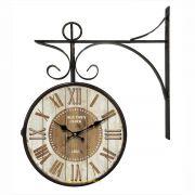 Relógio de parede dupla face Old Town Clock 1885