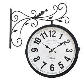Relógio de parede dupla face Paris 1879 Ancient City