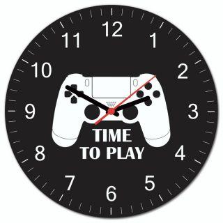 Relógio de Parede Esta na Hora do Gamer PS