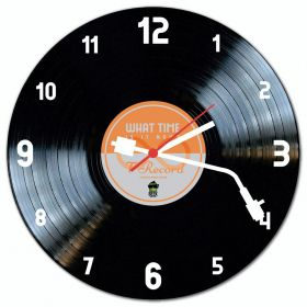 Relógio de Parede LP Disco de Vinil Orange