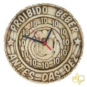 Relógio de Parede Proibido Beber Antes Das Dez