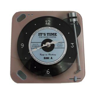 Relógio de Parede Retrô Mod LP Vinil Keep on Rocking - Blue 20x20cm