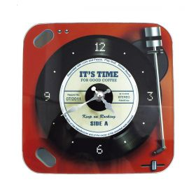 Relógio de Parede Retrô Mod LP Vinil Keep on Rocking - Red 20x20cm
