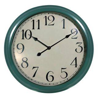 Relógio de Parede Retrô Verde Vintage 66cm