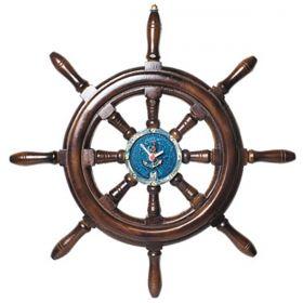 Relógio de Parede Timão de Barco em Resina 50CM Náutica