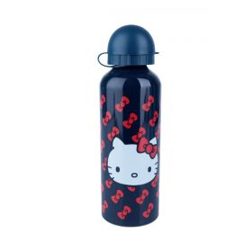Squeeze Aluminio Hello Kitty Oficial Fd 500ml Azul