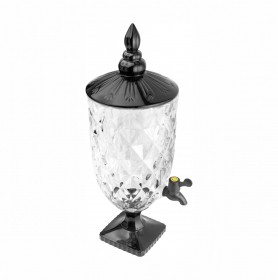 Suqueira Dispenser De Cristal Diamond Black Luxo 5L Lyor