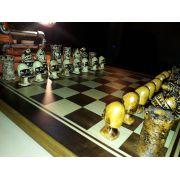 Tabuleiro de Xadrez Luxo Regal 32 Peças  Tab: 52x52cm