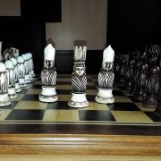Tabuleiro de Xadrez Luxo Victoriano 32 Peças Tab: 62x62 cm