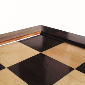Tabuleiro de Xadrez Madeira Plano Marchetado 48 X 48 cm