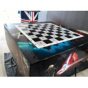 Tabuleiro de Xadrez StarWars com dois bancos