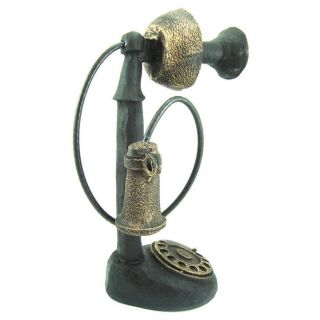 Telefone Retro Em Resina Para Decoração