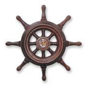 Timão de Barco Decorativo Em Resina 32CM Náutica