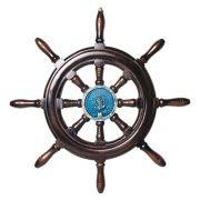 Timão de Barco Decorativo em Resina 50cm Náutica