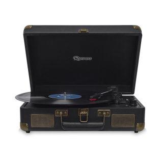 Vitrola Raveo Sonetto Preto c/ Toca Disco, bluetooth, USB Rec Selo Anatel