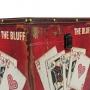 Baú Decorativo De Couro The Bluff Vermelho 26,5 x 26,5cm Verito