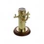 Bússola Decorativa Em Metal E Madeira Dourada Royal Decor