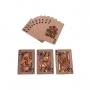 Caixa Decorativa De Madeira C/ 2 Baralhos Rose Royal Luxo