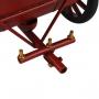 Carruagem Decorativa De Metal Retrô Vermelha Verito
