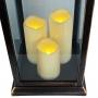 Conj. C/ 2 Lanternas Marroquinas Decorativas C/ Velas LED Preto Envelhecido