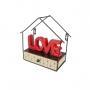 Conj Decor - Palavra Decorativa Love + Mini Prateleira House Shape