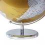 Globo Terrestre Decorativo Golden Edição Luxo Base Cromada Português 41cm
