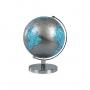 Globo Terrestre Silver e Blue edição Luxo Base Cromada Português 26cm