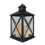 Lanterna Marroquina Decorativa C/ Velas LED Preta 44cm